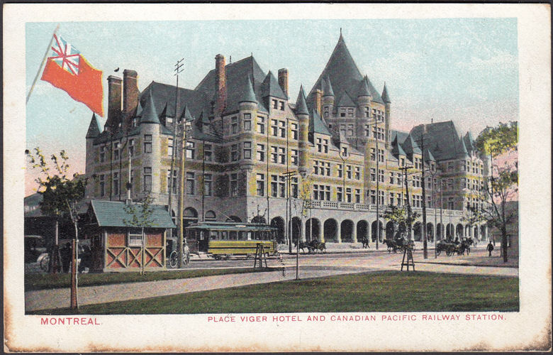 AK Montreal, Place Viger, Hotel and Canadian Pacific Railway Station